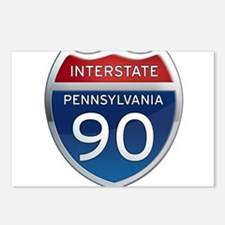Interstate 90 - Pennsylvania Postcards (Package of