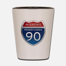 Interstate 90 - Pennsylvania Shot Glass