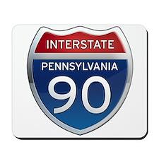 Interstate 90 - Pennsylvania Mousepad