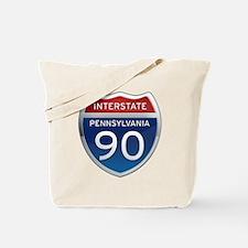 Interstate 90 - Pennsylvania Tote Bag