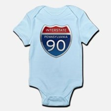 Interstate 90 - Pennsylvania Infant Bodysuit