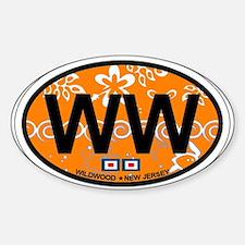 Wildwood NJ - Oval Design Decal