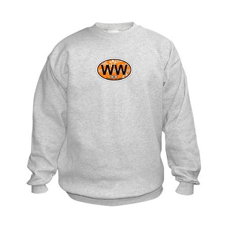 Wildwood NJ - Oval Design Kids Sweatshirt