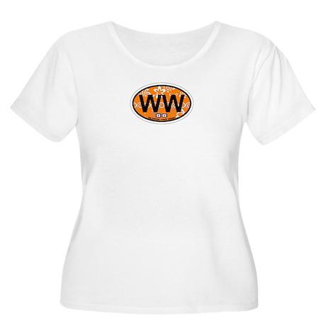 Wildwood NJ - Oval Design Women's Plus Size Scoop
