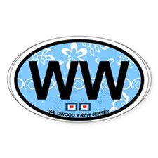 Wildwood NJ - Oval Design Decal