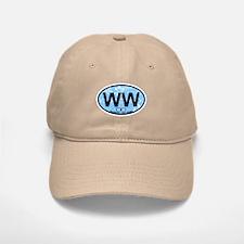 Wildwood NJ - Oval Design Baseball Baseball Cap