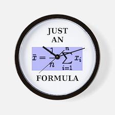 Just An Average Formula Wall Clock