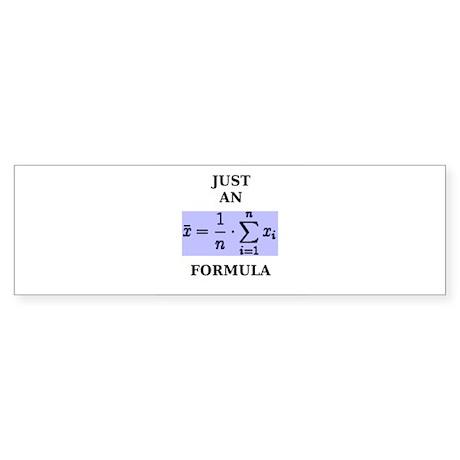 Just An Average Formula Sticker (Bumper)