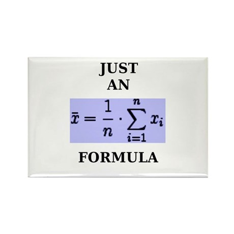 Just An Average Formula Rectangle Magnet