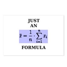 Just An Average Formula Postcards (Package of 8)