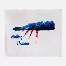Rolling Thunder Throw Blanket