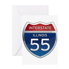 Interstate 55 - Illinois Greeting Card