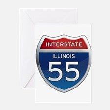 Interstate 55 - Illinois Greeting Card