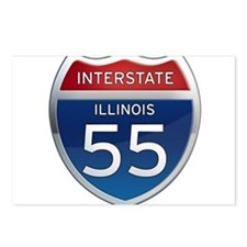 Interstate 55 - Illinois Postcards (Package of 8)