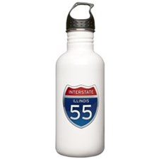 Interstate 55 - Illinois Water Bottle