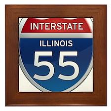 Interstate 55 - Illinois Framed Tile