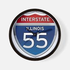 Interstate 55 - Illinois Wall Clock