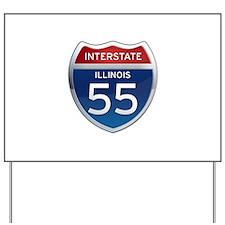 Interstate 55 - Illinois Yard Sign