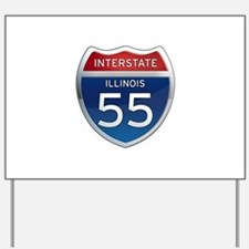 Interstate 55 - Illinois Yard Sign