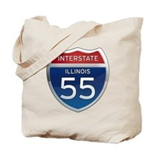 Interstate 55 - Illinois Tote Bag