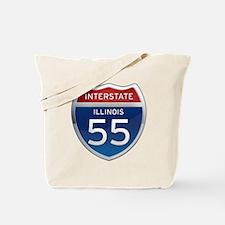 Interstate 55 - Illinois Tote Bag