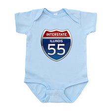 Interstate 55 - Illinois Infant Bodysuit