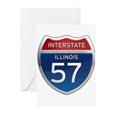 Interstate 57 - Illinois Greeting Cards (Pk of 10)