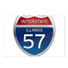 Interstate 57 - Illinois Postcards (Package of 8)