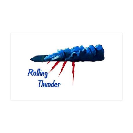 Rolling Thunder 38.5 x 24.5 Wall Peel