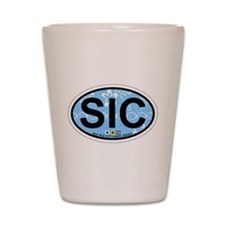 Sea Isle City - Oval Design Shot Glass