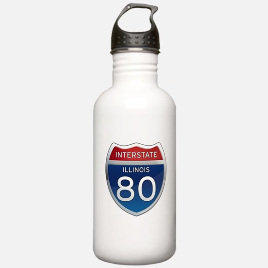 Interstate 80 - Illinois Water Bottle