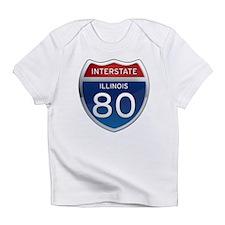 Interstate 80 - Illinois Infant T-Shirt