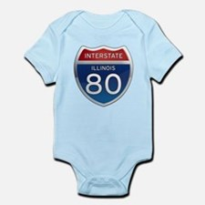 Interstate 80 - Illinois Infant Bodysuit