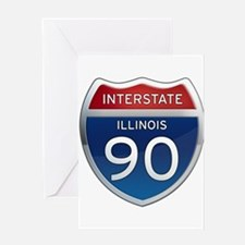 Interstate 90 - Illinois Greeting Card