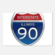 Interstate 90 - Illinois Postcards (Package of 8)