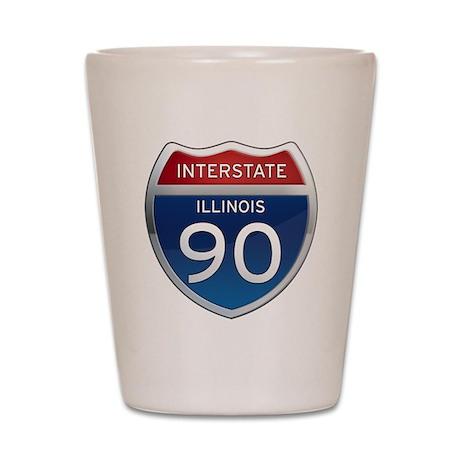 Interstate 90 - Illinois Shot Glass