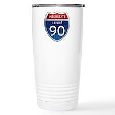 Interstate 90 - Illinois Travel Mug