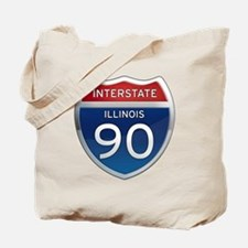 Interstate 90 - Illinois Tote Bag