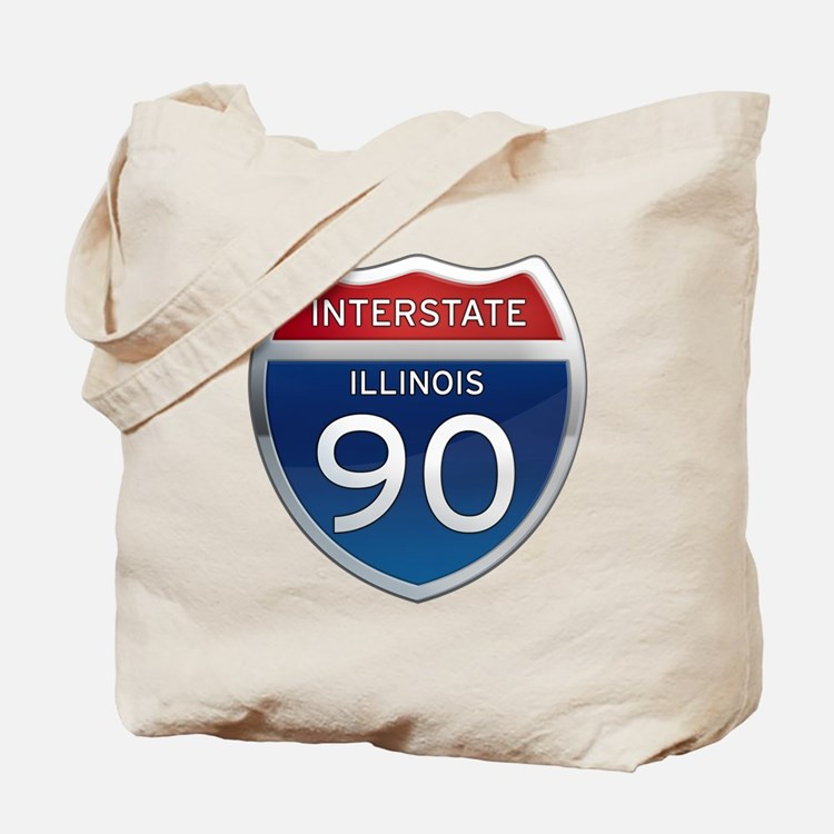 Interstate 90 - Illinois Tote Bag