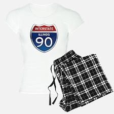 Interstate 90 - Illinois Pajamas