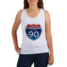 Interstate 90 - Illinois Women's Tank Top