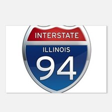 Interstate 94 - Illinois Postcards (Package of 8)