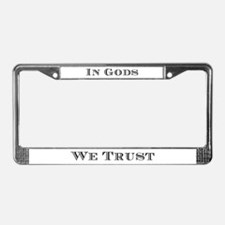In Gods We Trust License Plate Frame