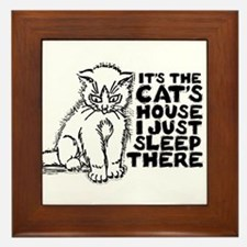It's the Cat's House Framed Tile