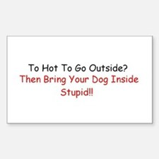 HOT DOG LET ME IN Rectangle Decal