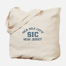 Sea Isle City NJ - Varsity Design Tote Bag