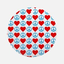 Peace and Love Ornament (Round)
