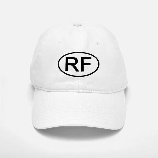 RF - Initial Oval Baseball Baseball Cap
