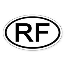 RF - Initial Oval Oval Decal