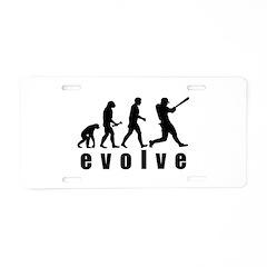 Evolve Baseball Aluminum License Plate